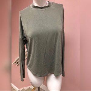 Womens Madewell Green Longsleeve Top Size Small